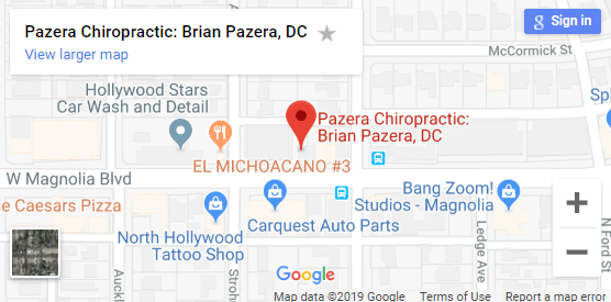 Map of North Hollywood Chiropractors